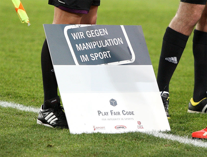 "Picture of sujet ""we against manipulation in sport"""