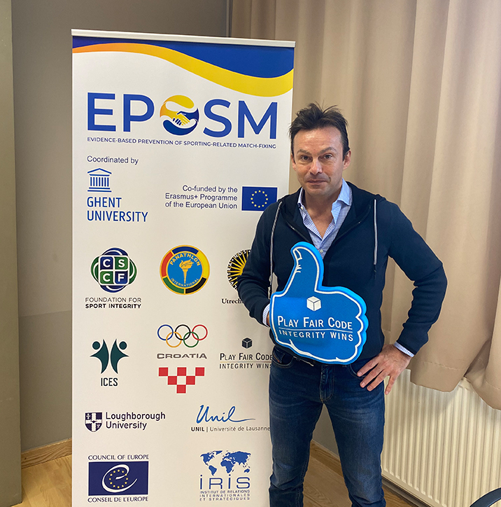 Severin Moritzer at the kick-off event of the EPOS Eramus+ projects