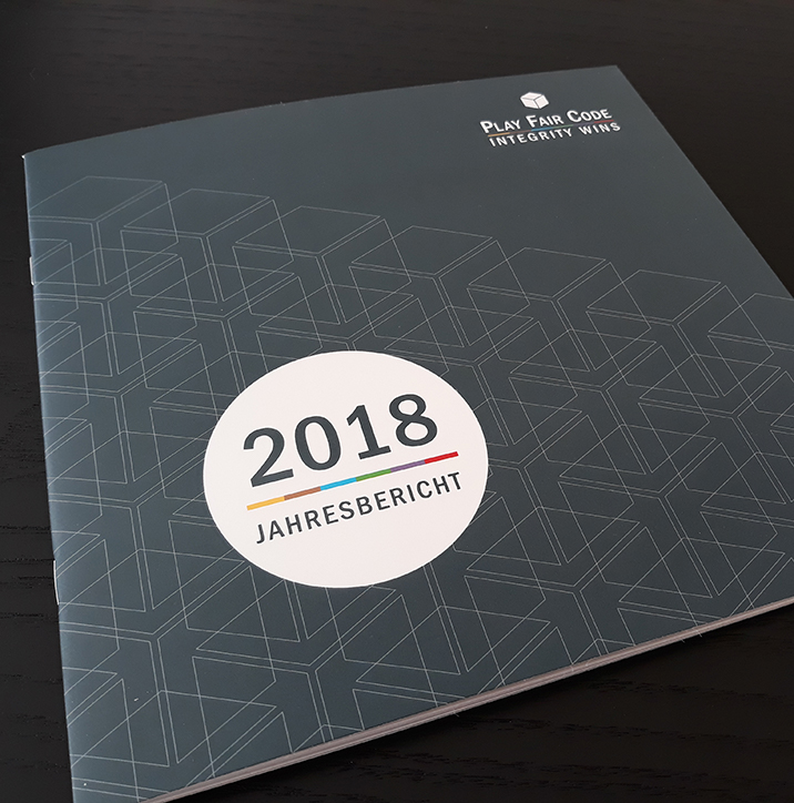 Picture of the Annual Report 2018 of the Play Fair Code